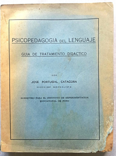 psicopedagogía del lenguaje j.portugal catacora