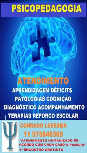 psicopedagogo  diagnostico intervencã