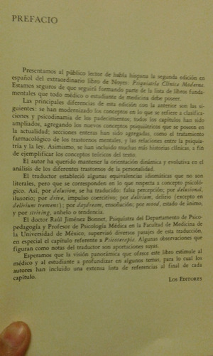 psiquiatria clinica moderna. noyes/ kolb. 1958.