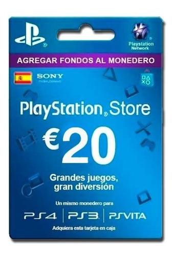 psn card 20 euros españa [ código digital ]