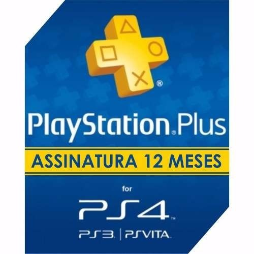 Psn playstation plus 12 meses free ps4 ps3 psvita r 150 00 em mercado livre - Psn plus 3 meses ...