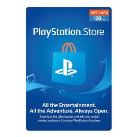Psn Playstation Ps4 Store 20 Usd Codigo Digital Para Juegos