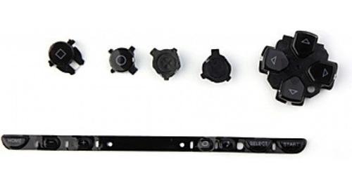 psp 1000 kit de botones /color negro