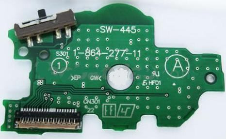 psp 1000  replacement power switch circuit board for psp