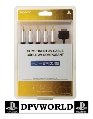 psp go cable audio video componentes sony  hd en tu tv