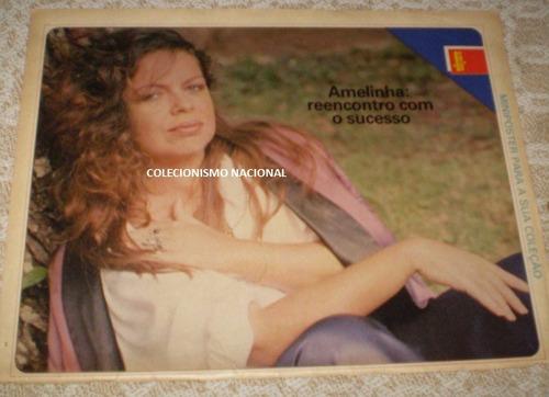 pôster amelinha - anos 80 - revista amiga