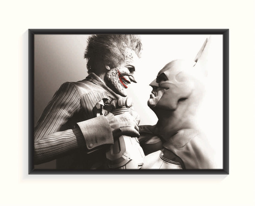 pôster batman vs joker - pequena