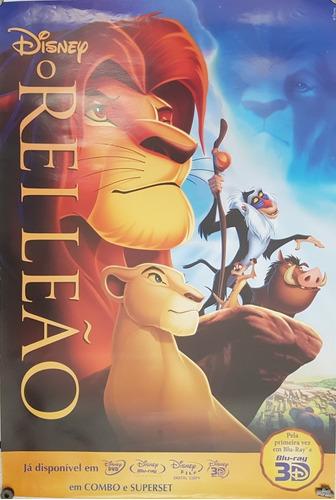 pôster cartaz o rei leão 93x63 cm