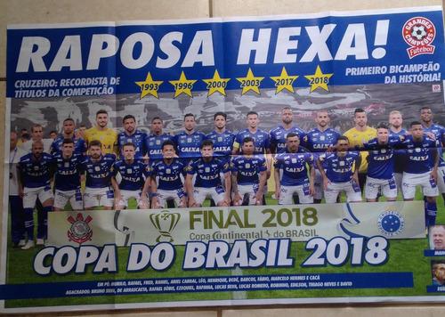 pôster cruzeiro hexa campeão da copa do brasil 2018