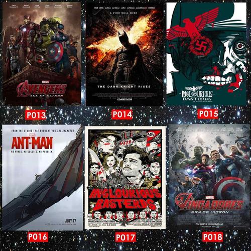 pôsteres (cinema, cultura geek, games, encomendas...)