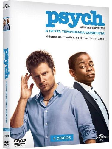 psych - agentes especiais 6ª temporada - box com 4 dvds