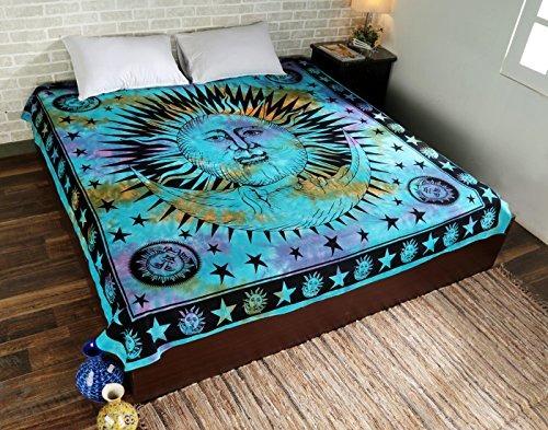 psychedelic celeste indio sun hippie tapicería de la pared