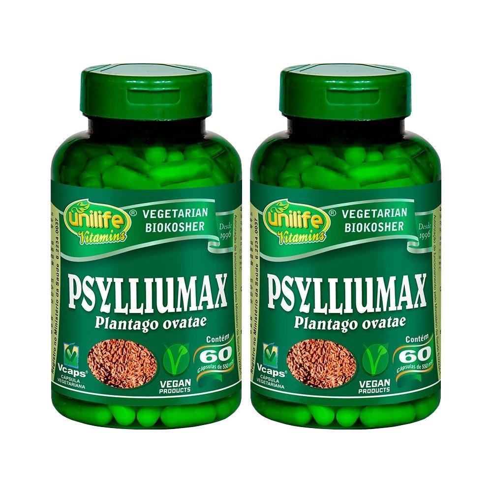 Psylliumax Psyllium 60 Cápsulas 550mg Unilife Kit 2 Unidades