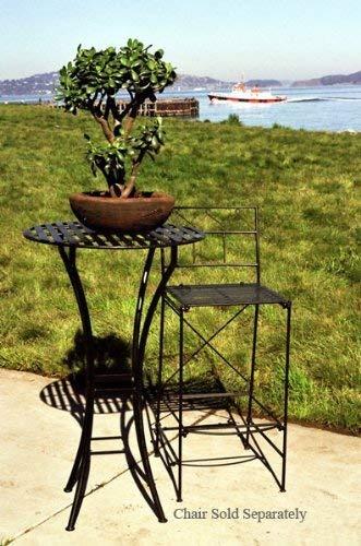 ptc hogar y jardin mesa de bar plegable negro