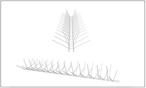 puas antipaloma, alambre galvanizado pestbusters