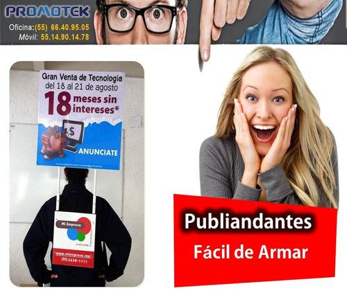 publiandantes mochilas publicitarias volanteo sampling btl