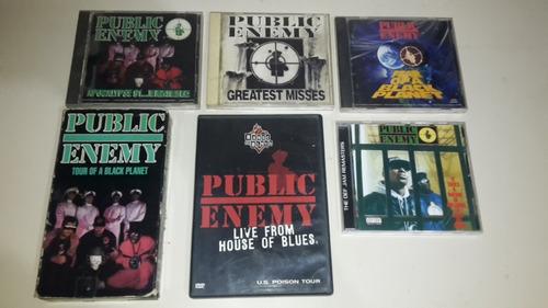 public enemy coleccion  de 4 cds + dvd + vhs