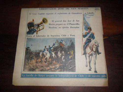 publicacion 1954 san martin el gran capitan granaderos
