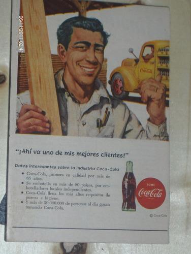 publicacion de  coca-cola de los años 54