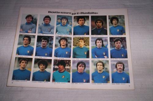 publicacion italiana con motivo de la copa de oro 1980...