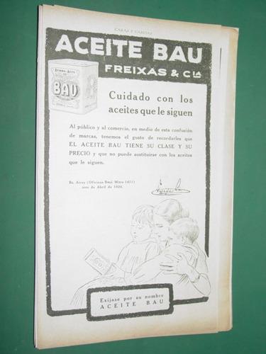 publicidad aceite bau freixas y cia lata antigua
