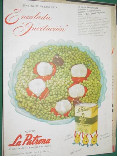 publicidad aceite la patrona swift receta ensalada invitacio