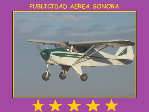 publicidad aérea sonora/ propaganda aérea con avioneta