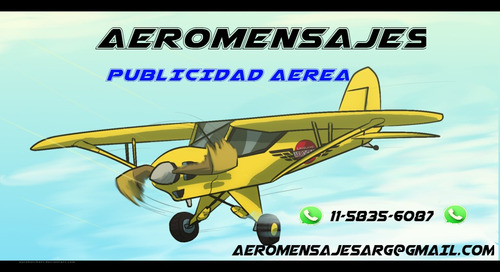 publicidad aérea sonora - propaganda en avión!