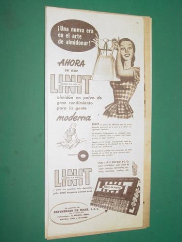 publicidad almidon linit nueva era en el arte de almidonar