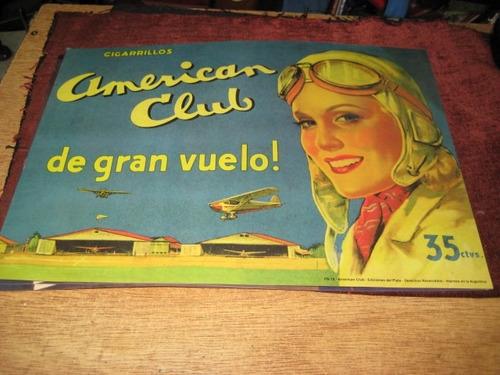 publicidad american club poster de afiche