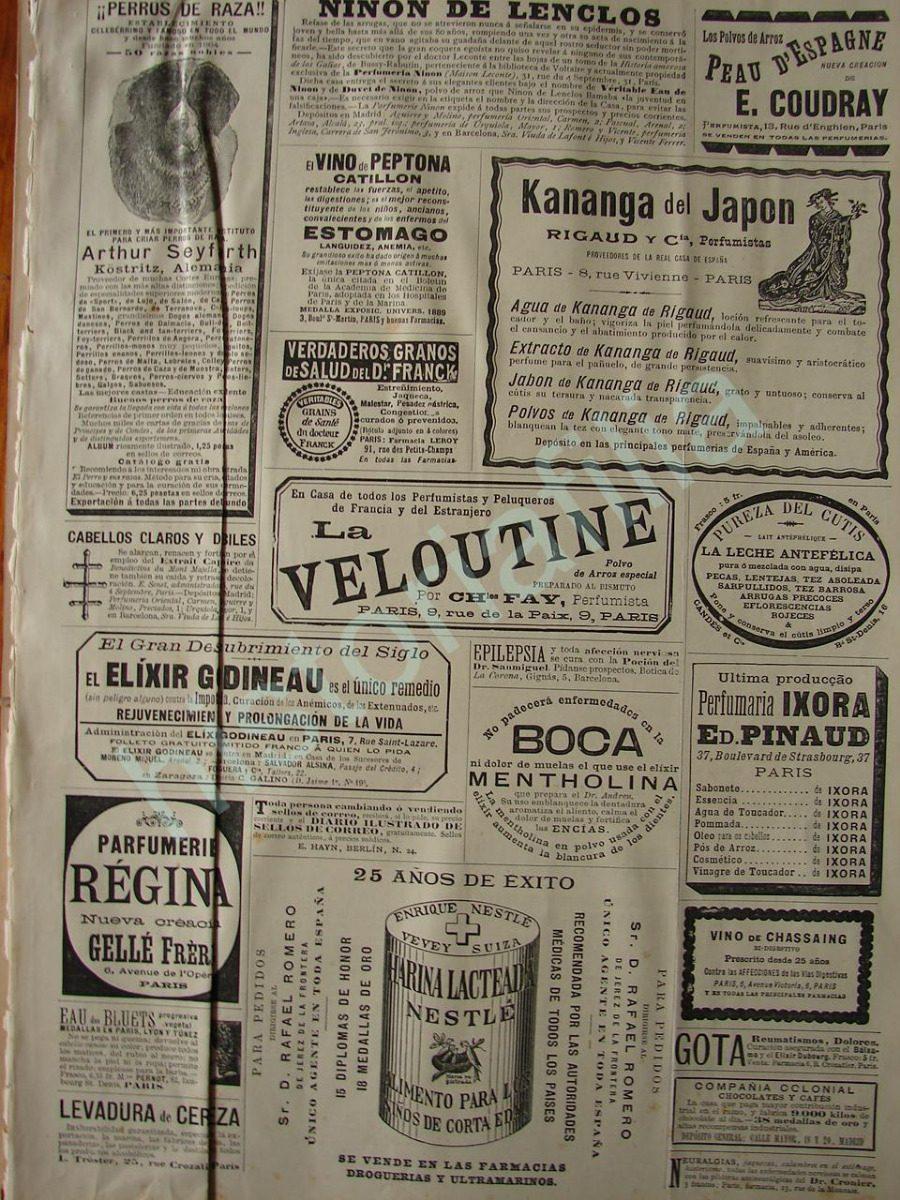 00645b9d801a Publicidad Antigua 1895 Nestle Y Otros Anuncios Clasificados ...
