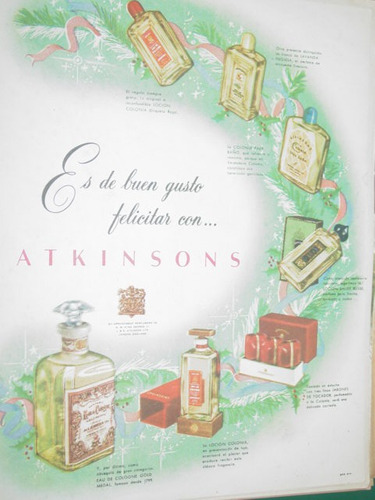 publicidad antigua atkinsons perfumes buen gusto frascos mo2