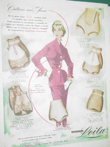 publicidad antigua bombachas leila cinturas finas clipping