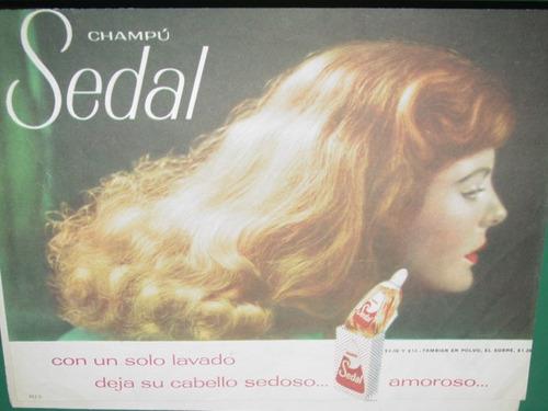 publicidad antigua champu shampoo sedal amoroso mod2