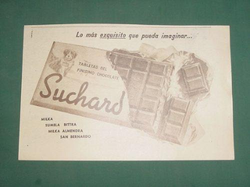publicidad antigua chocolate suchard bittra sumela almendra
