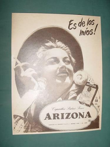 publicidad antigua cigarrillos arizona mujeres cowboy