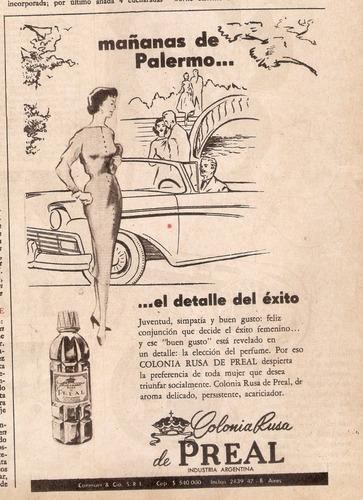 publicidad antigua clipping colonia rusa de preal 844