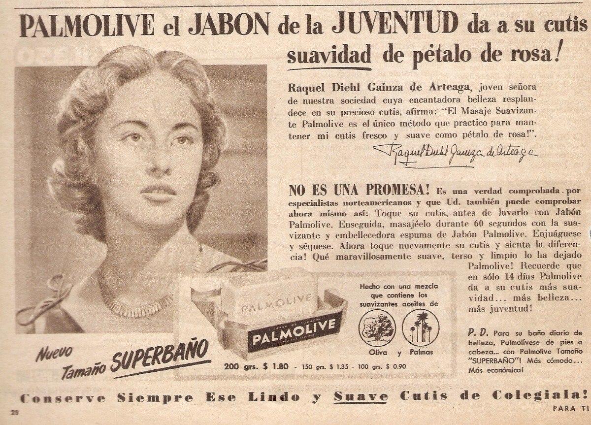 9333b7b08 Publicidad Antigua Clipping Jabon Palmolive Raquel Diehl 744 - $ 50,00