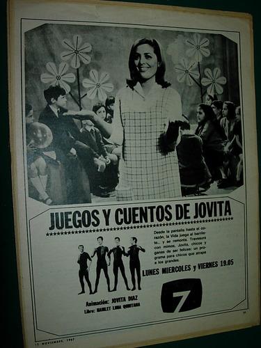 publicidad antigua clipping jovita diaz juegos cuentos