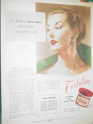 publicidad antigua crema tortulan la belleza dura mas