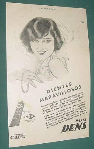 publicidad antigua dentrifico pasta dens dientes maravilloso