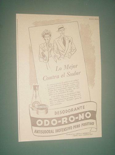 publicidad antigua desodorante odorono mejor contra sudor