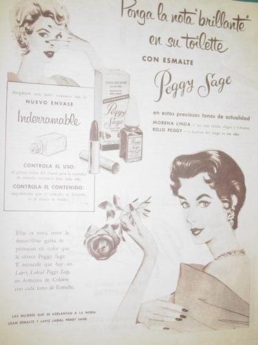 publicidad antigua esmalte peggy sage nota brillante toilett