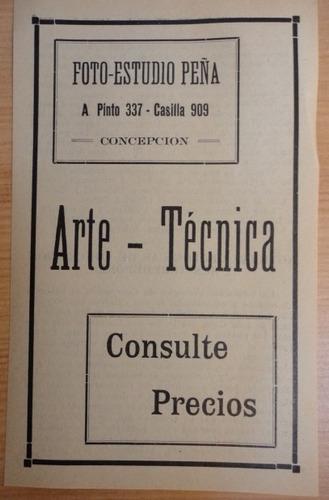 publicidad antigua foto estudio peña concepción