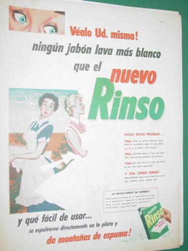 publicidad antigua jabon rinso vealo ud misma lava blanco