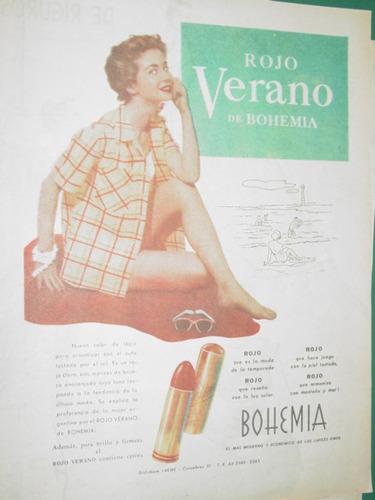 publicidad antigua lapiz labial labios bohemia rojo verano
