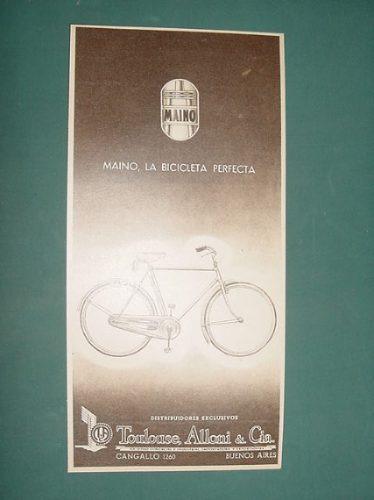 publicidad antigua maino bicicletas la perfecta old bicycles