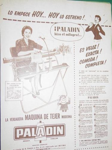 publicidad antigua maquina tejer knitting machine paladin m1