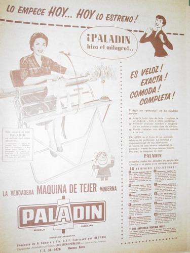 publicidad antigua maquinas de coser paladin empece hoy