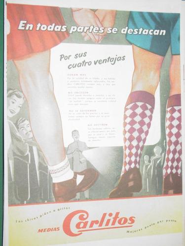 publicidad antigua medias carlitos escolar infantil mod3